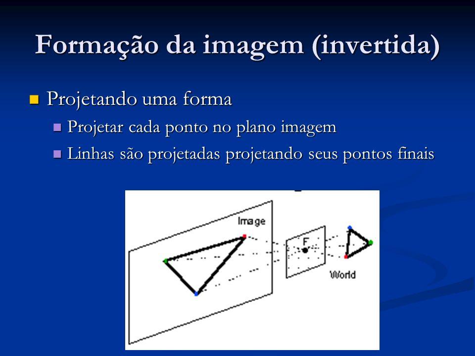Formação da imagem (invertida)
