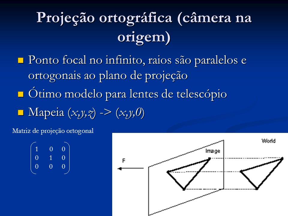 Projeção ortográfica (câmera na origem)