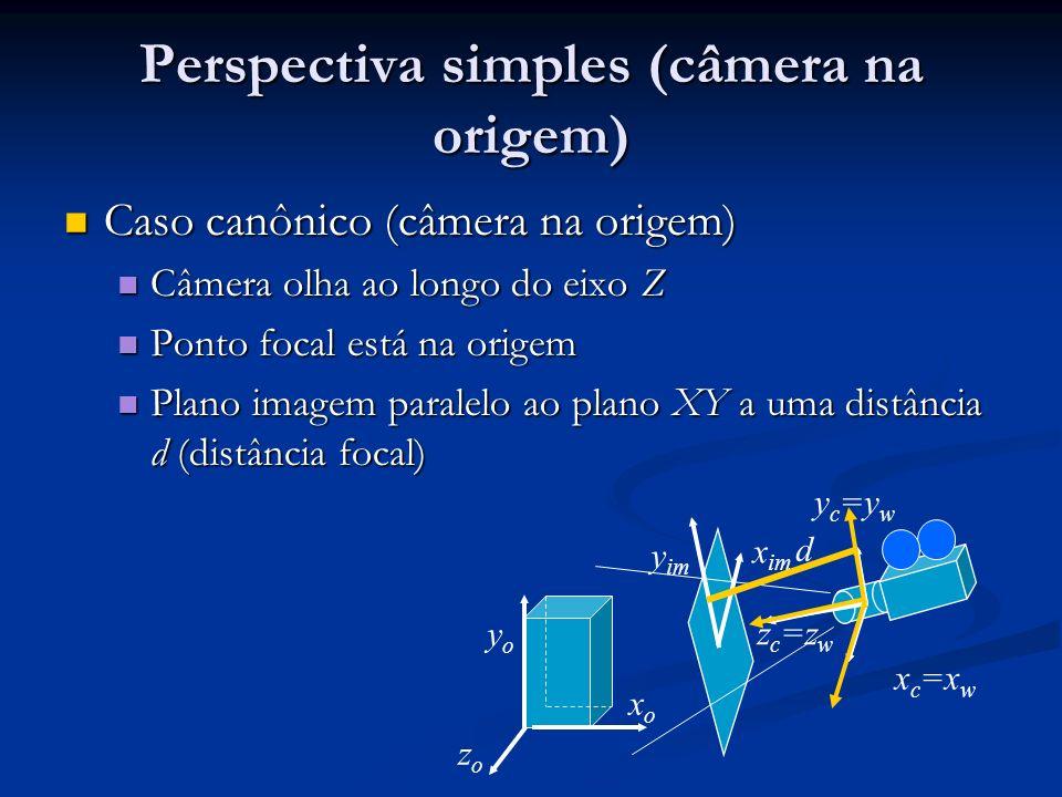 Perspectiva simples (câmera na origem)