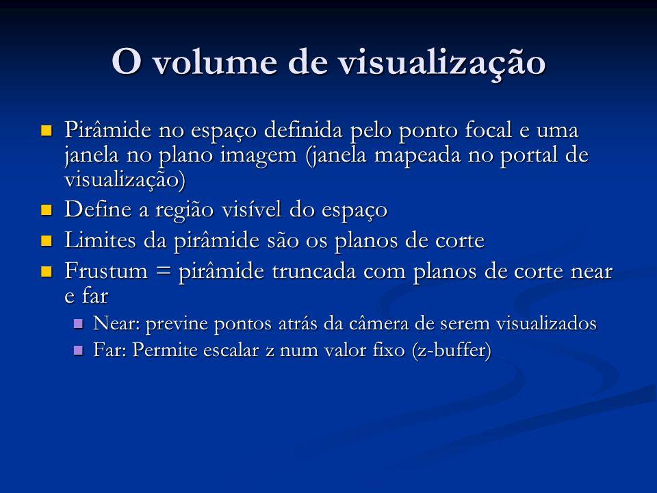 O volume de visualização