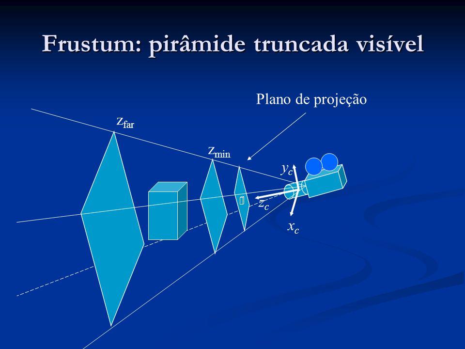 Frustum: pirâmide truncada visível