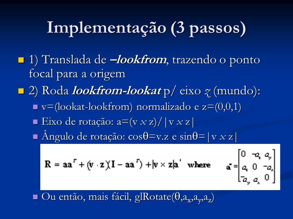 Implementação (3 passos)