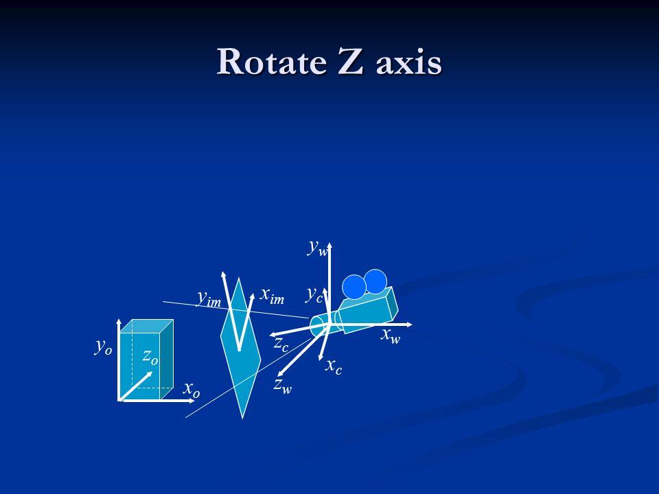 Rotate Z axis yw yim xim yc xw yo zc zo xc zw xo