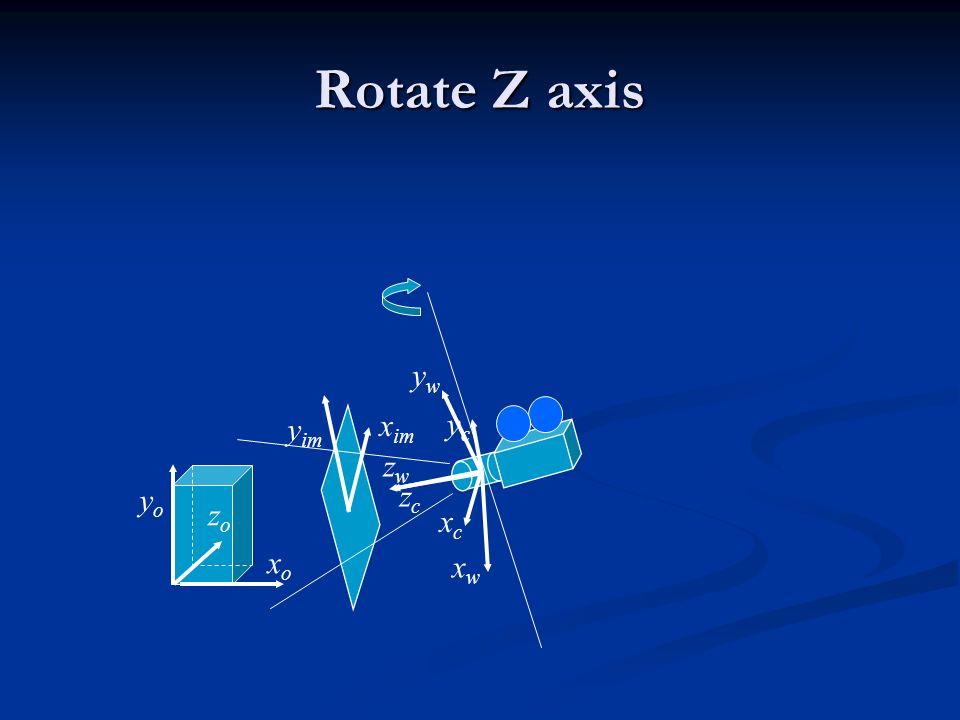 Rotate Z axis yw yim xim yc zw yo zc zo xc xo xw