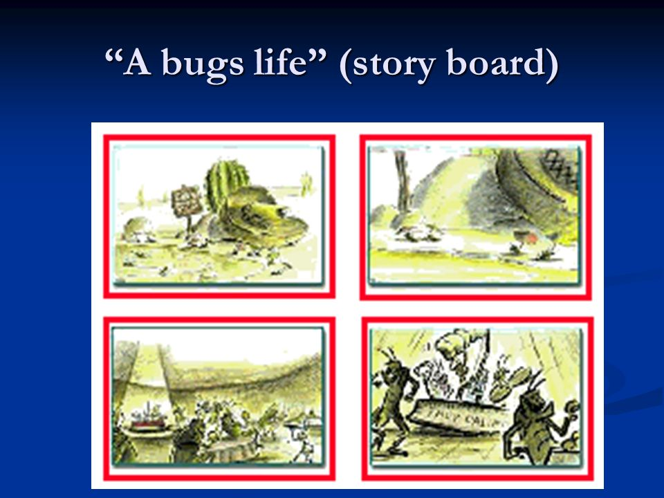 A bugs life (story board)