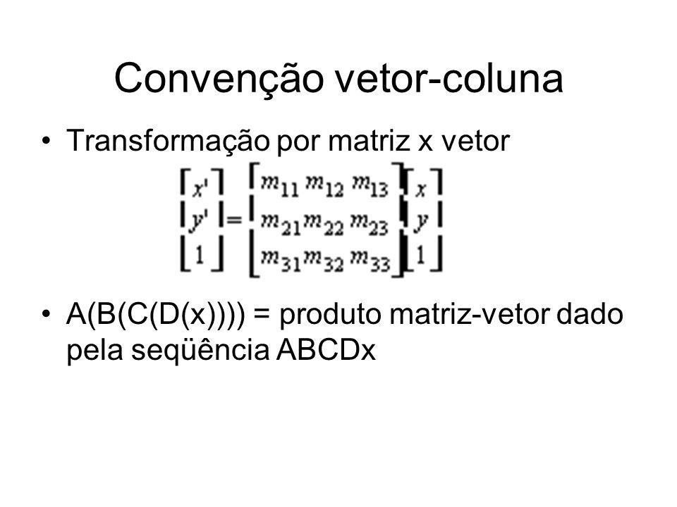 Convenção vetor-coluna