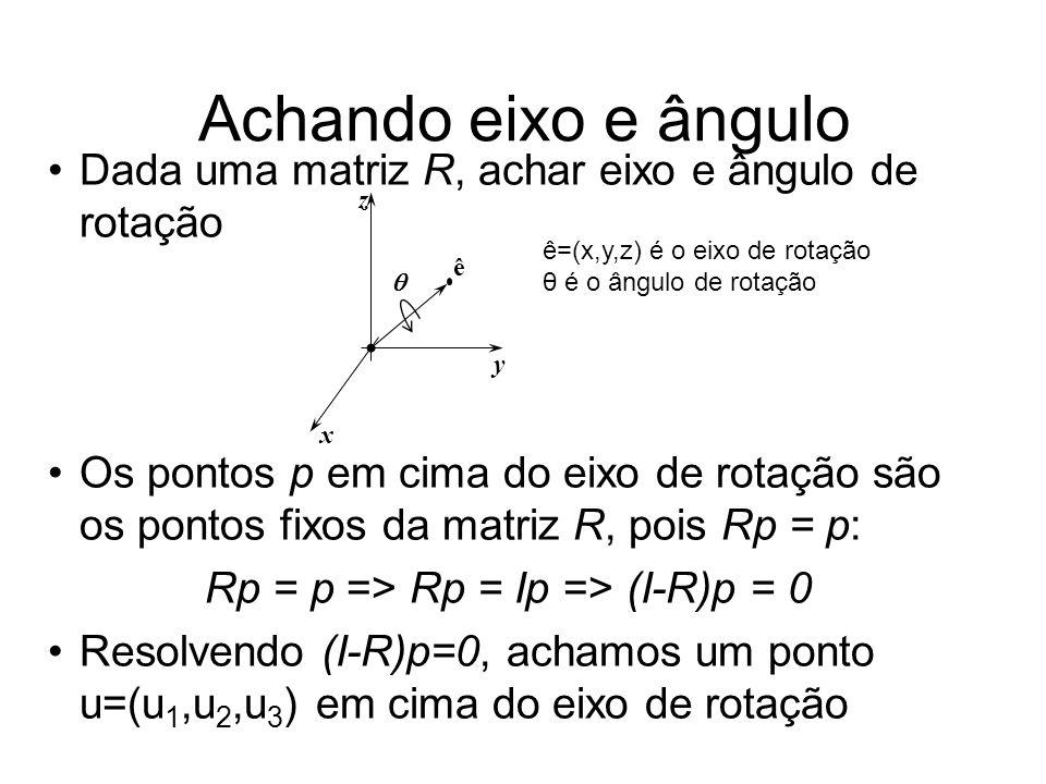 Rp = p => Rp = Ip => (I-R)p = 0