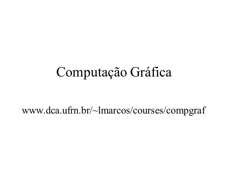 Computação Gráfica www.dca.ufrn.br/~lmarcos/courses/compgraf