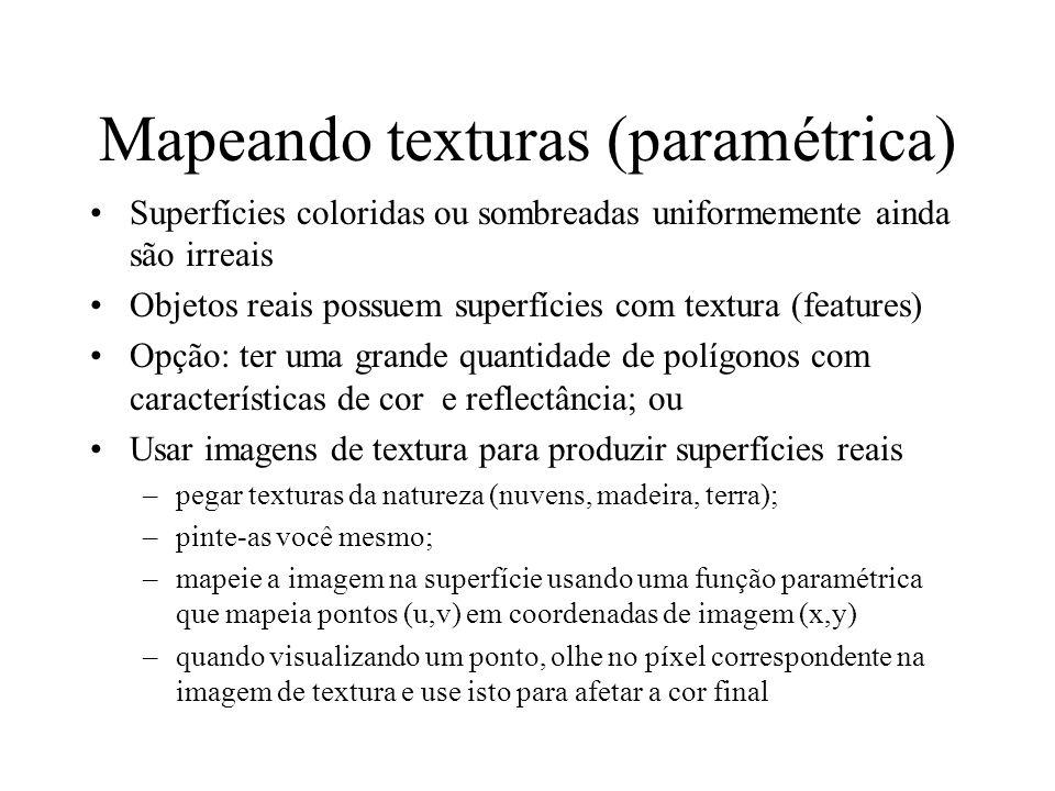 Mapeando texturas (paramétrica)