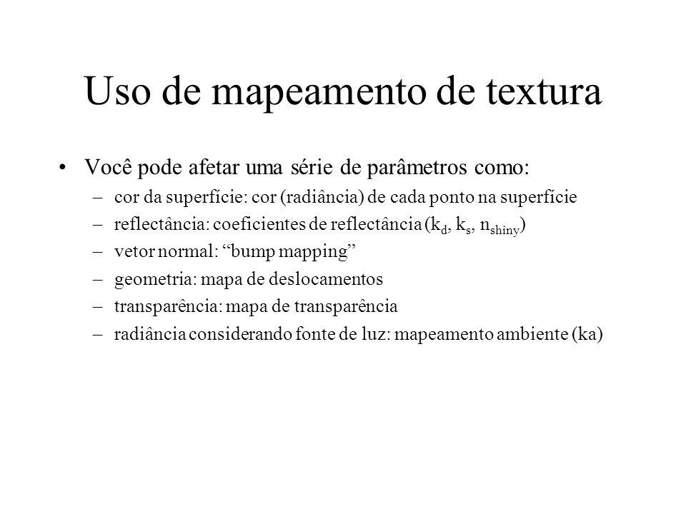 Uso de mapeamento de textura