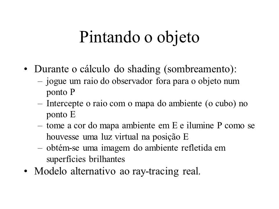 Pintando o objeto Durante o cálculo do shading (sombreamento):