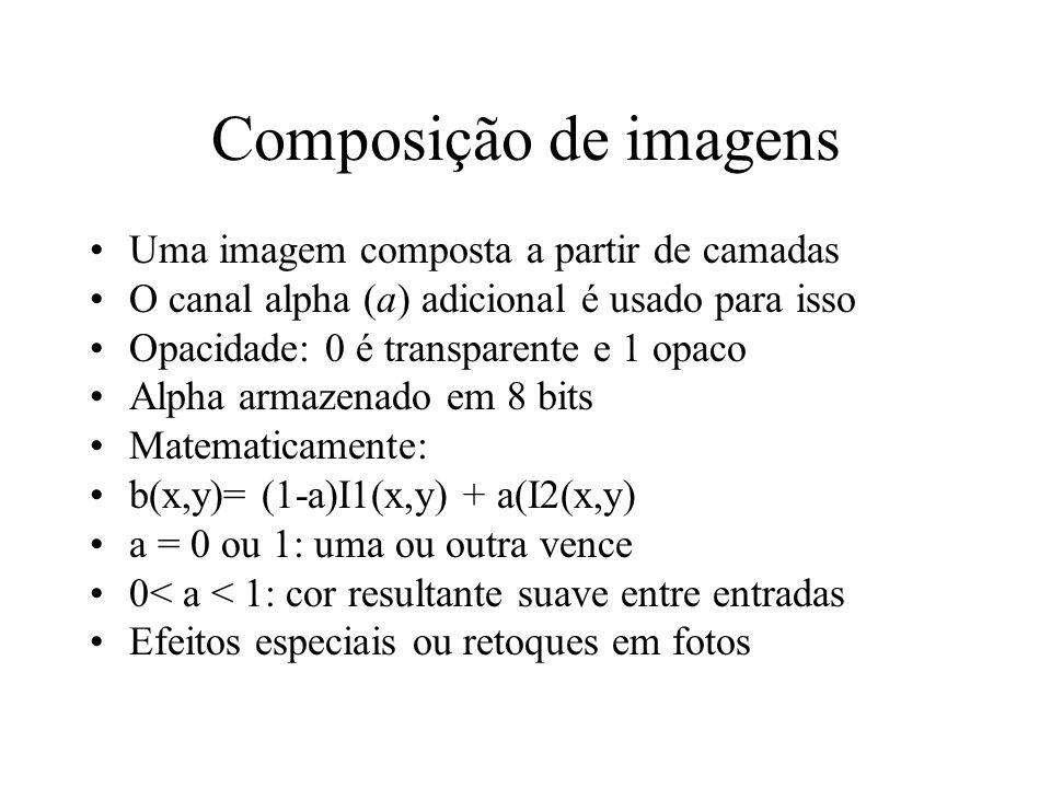 Composição de imagens Uma imagem composta a partir de camadas