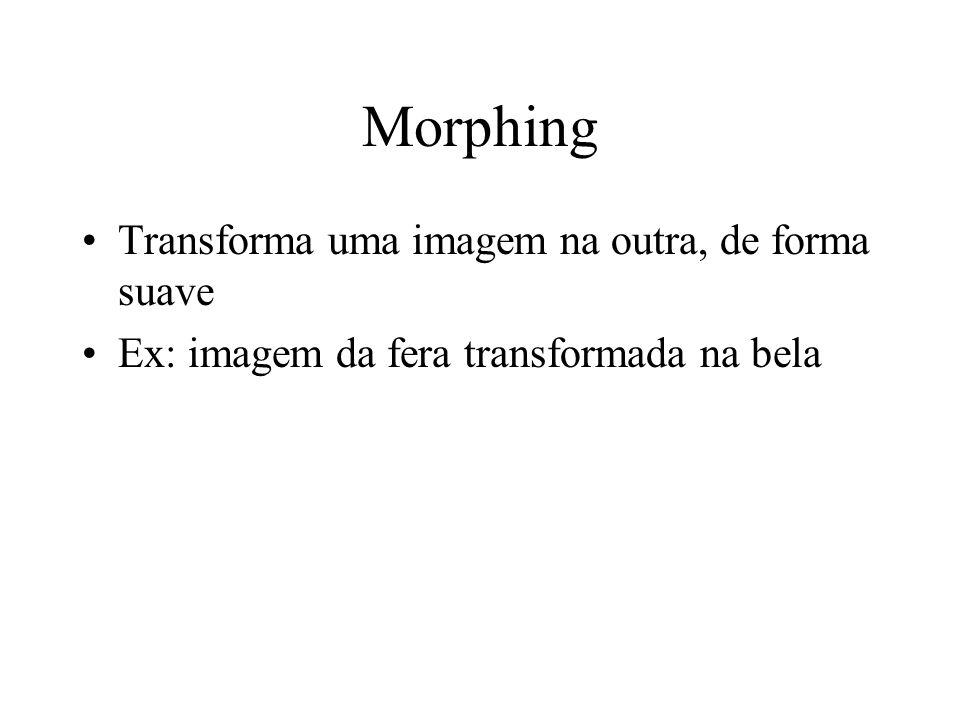 Morphing Transforma uma imagem na outra, de forma suave