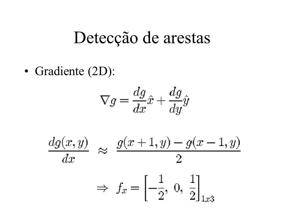 Detecção de arestas Gradiente (2D):