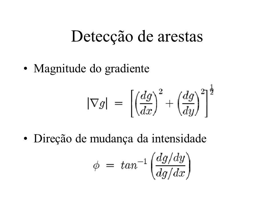 Detecção de arestas Magnitude do gradiente