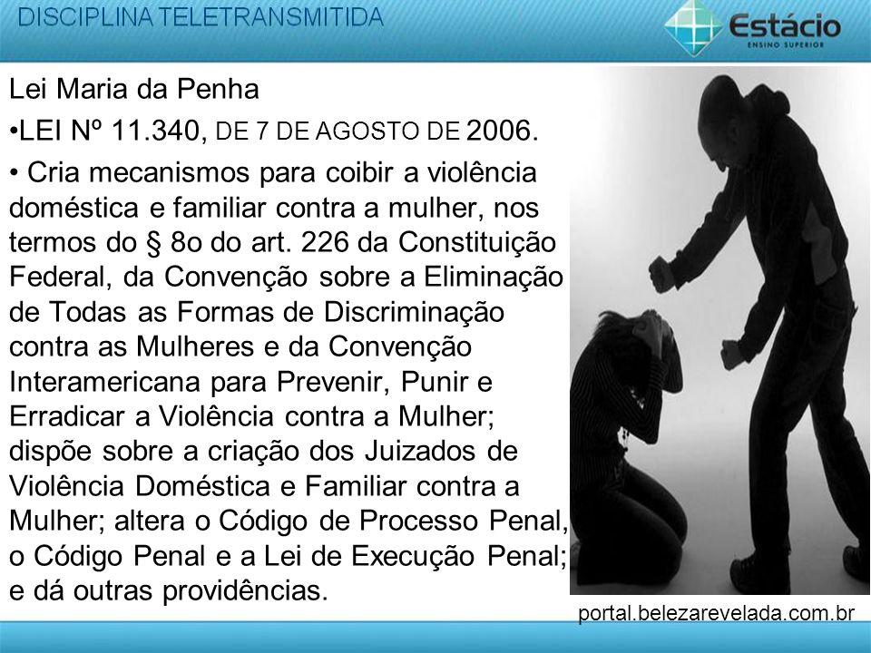 Lei Maria da Penha •LEI Nº 11. 340, DE 7 DE AGOSTO DE 2006