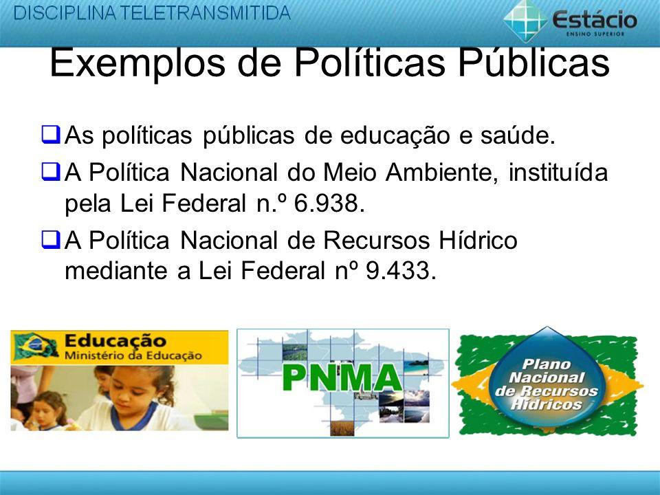 Exemplos de Políticas Públicas
