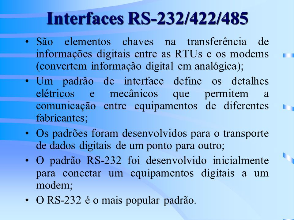 Interfaces RS-232/422/485