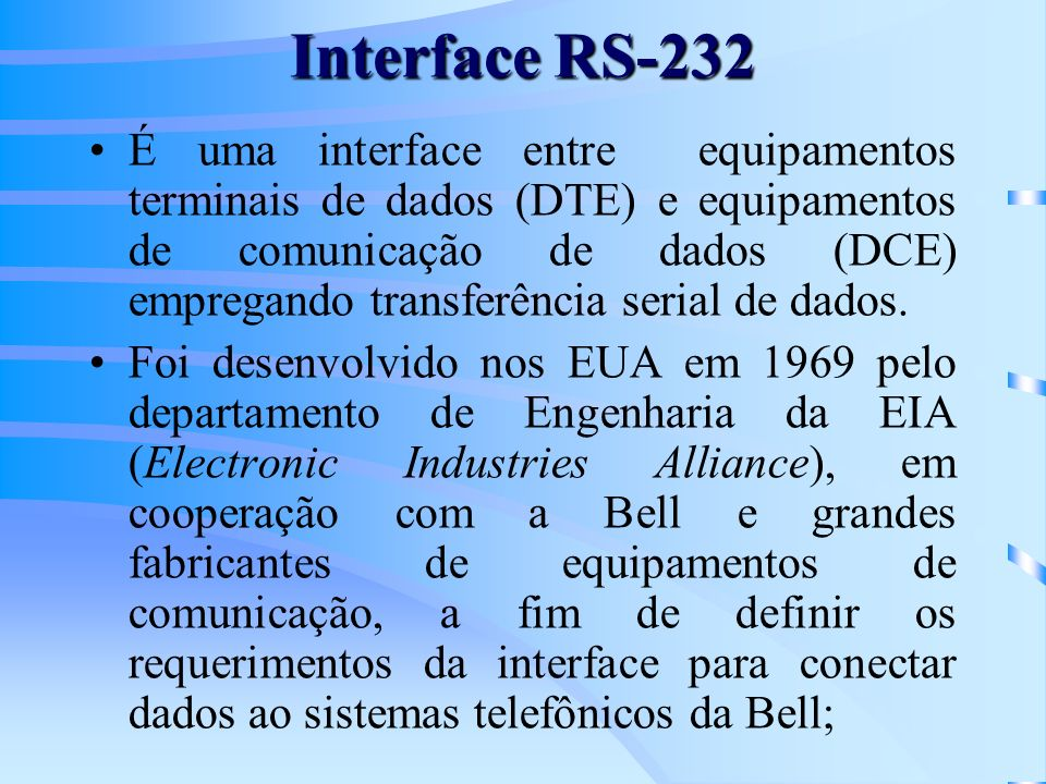 Interface RS-232