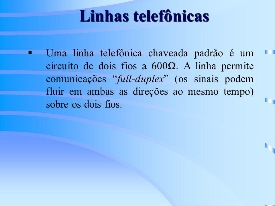 Linhas telefônicas