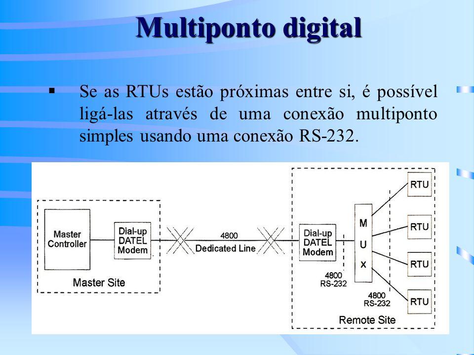 Multiponto digitalSe as RTUs estão próximas entre si, é possível ligá-las através de uma conexão multiponto simples usando uma conexão RS-232.