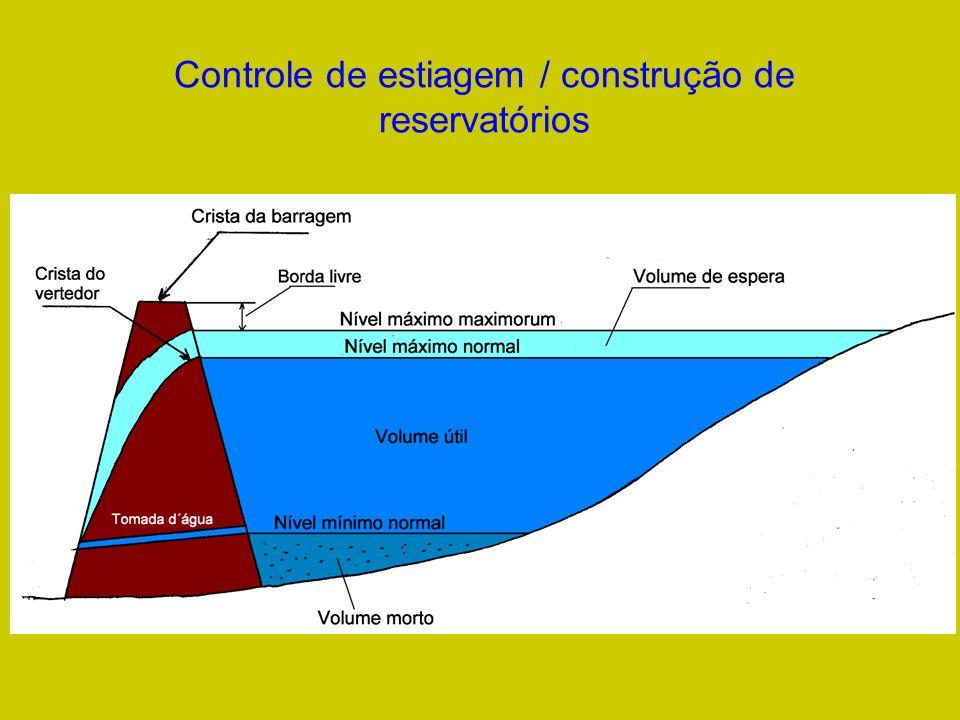Controle de estiagem / construção de reservatórios