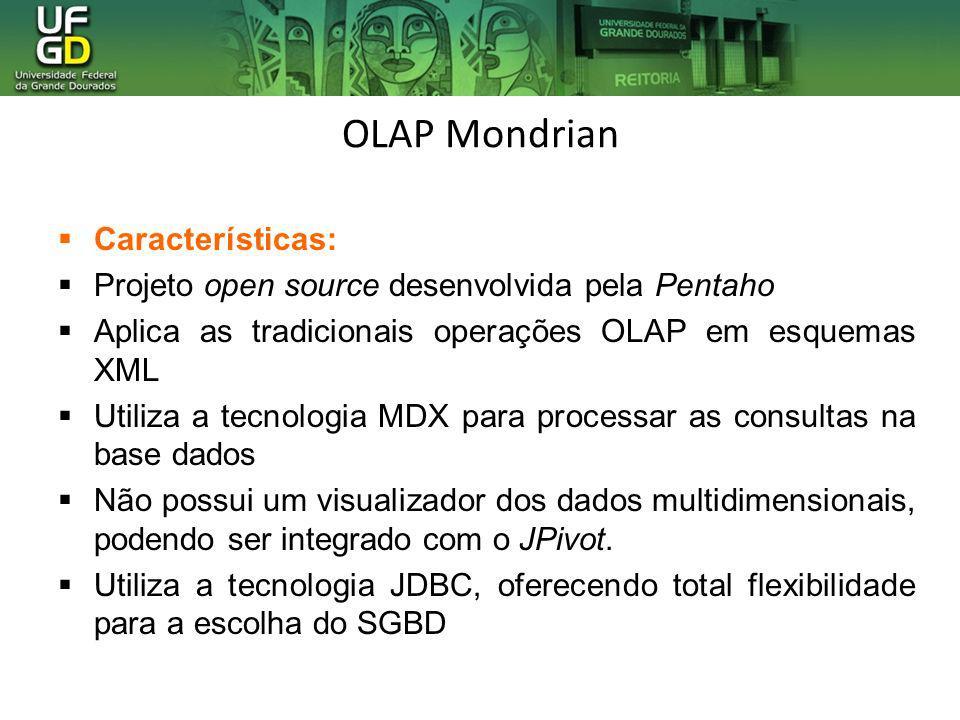 OLAP Mondrian Características: