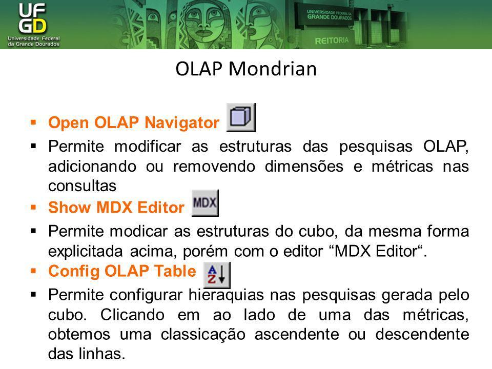 OLAP Mondrian Open OLAP Navigator