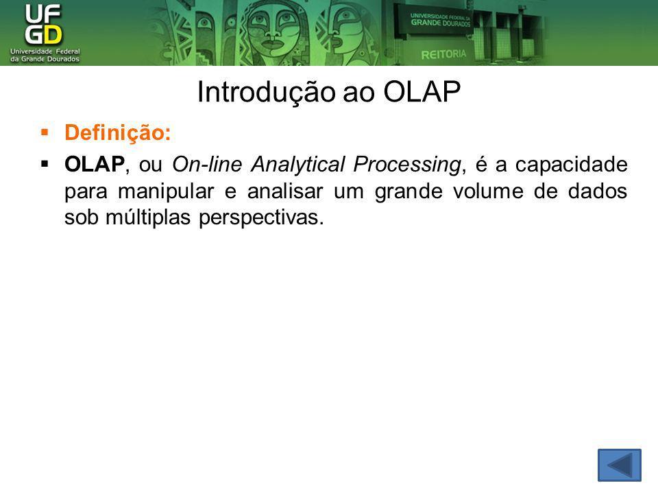 Introdução ao OLAP Definição: