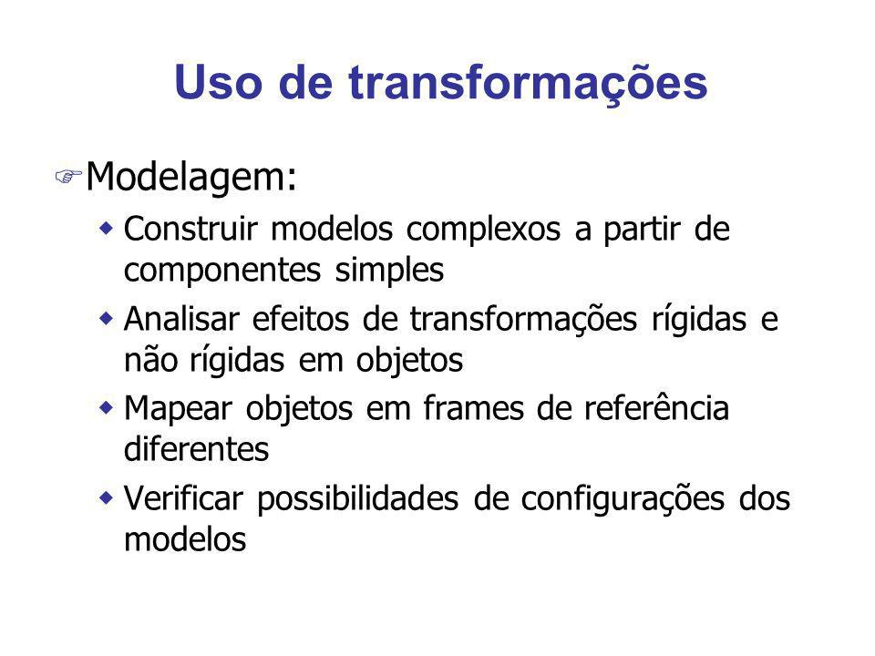 Uso de transformações Modelagem: