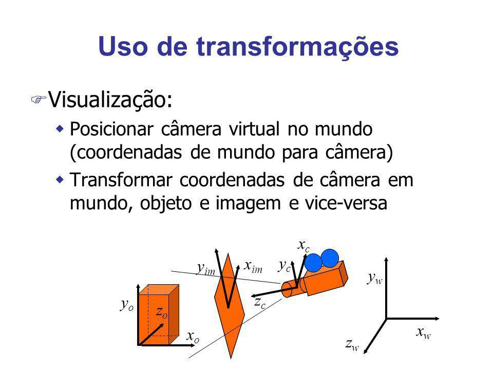 Uso de transformações Visualização: