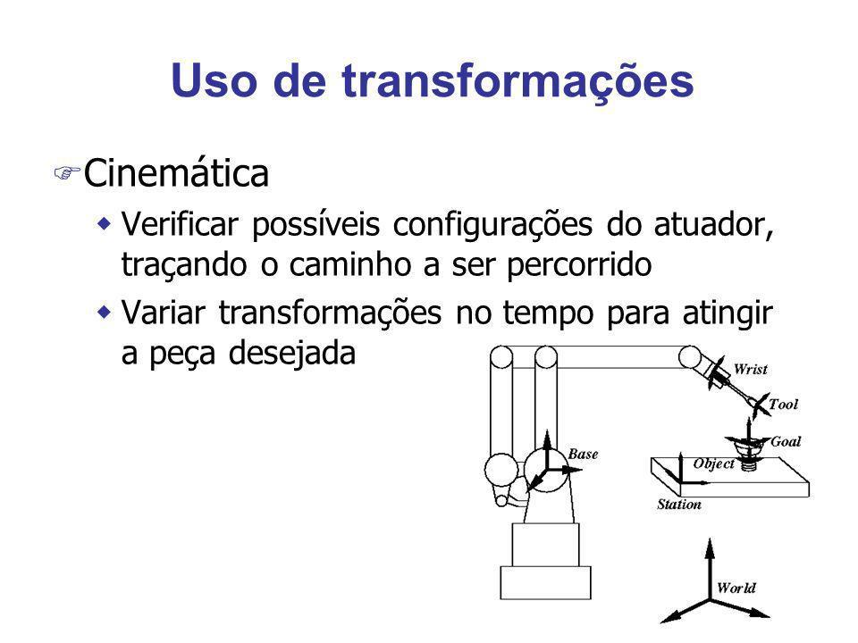 Uso de transformações Cinemática