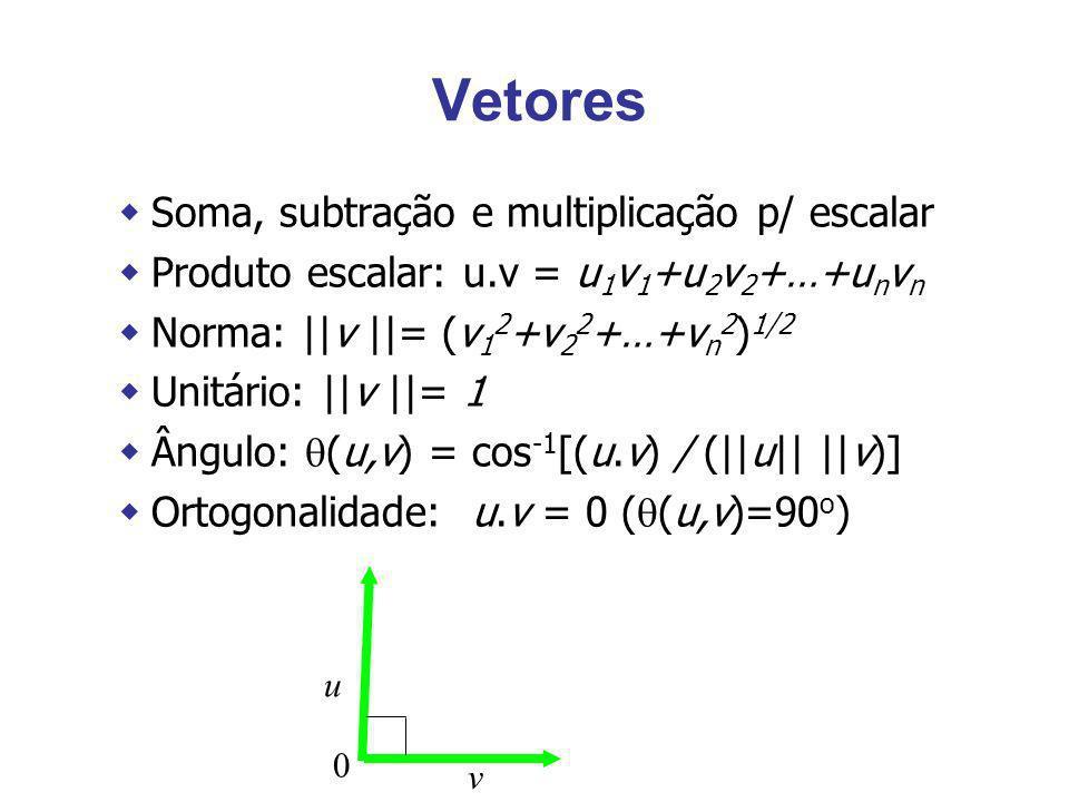 Vetores Soma, subtração e multiplicação p/ escalar