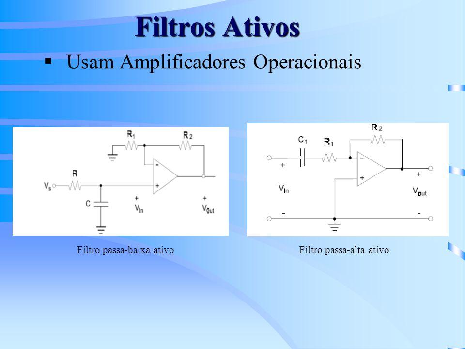 Filtros Ativos Usam Amplificadores Operacionais