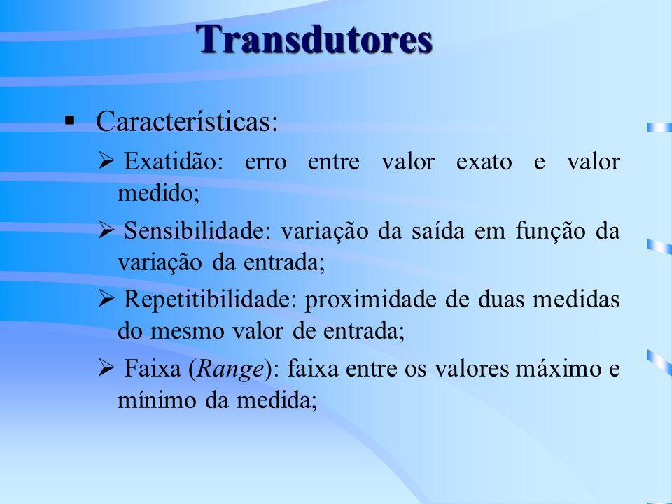 Transdutores Características: