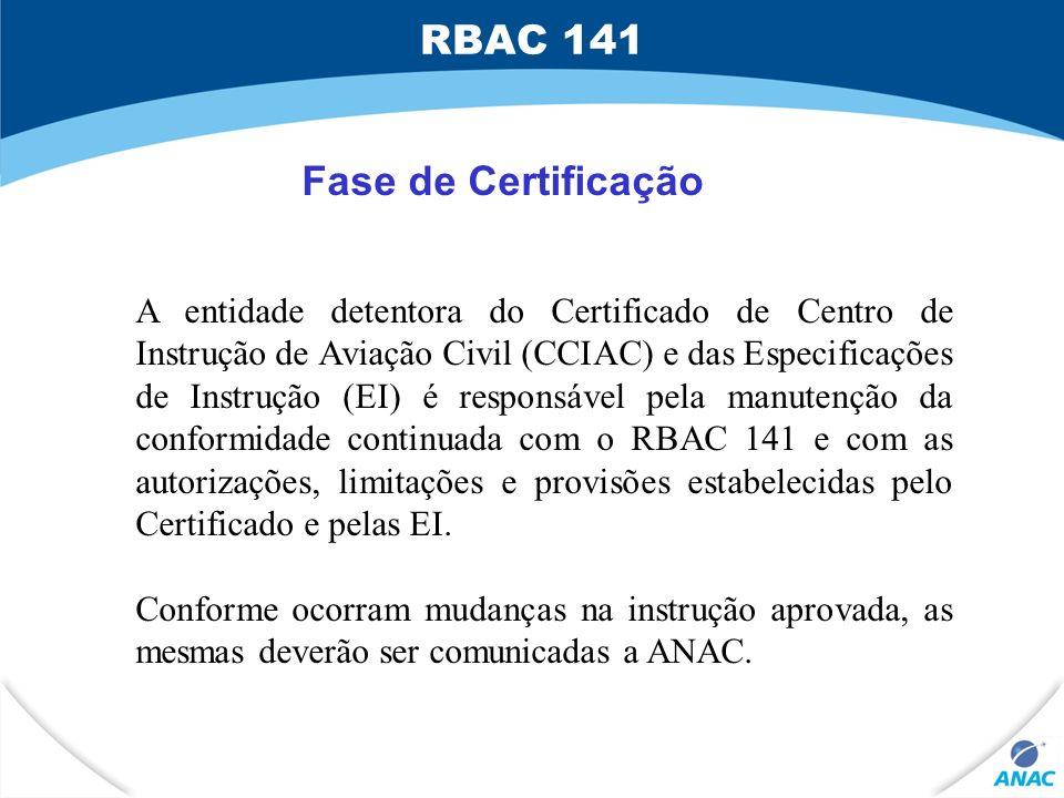 RBAC 141 Fase de Certificação