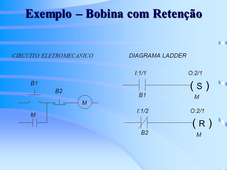 Exemplo – Bobina com Retenção