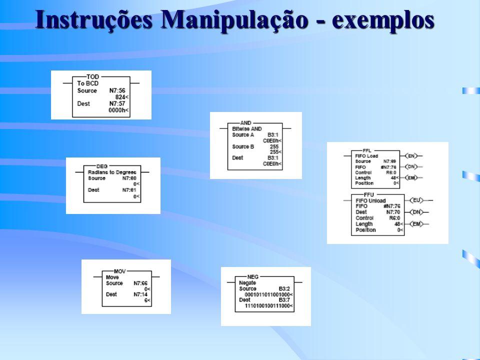 Instruções Manipulação - exemplos