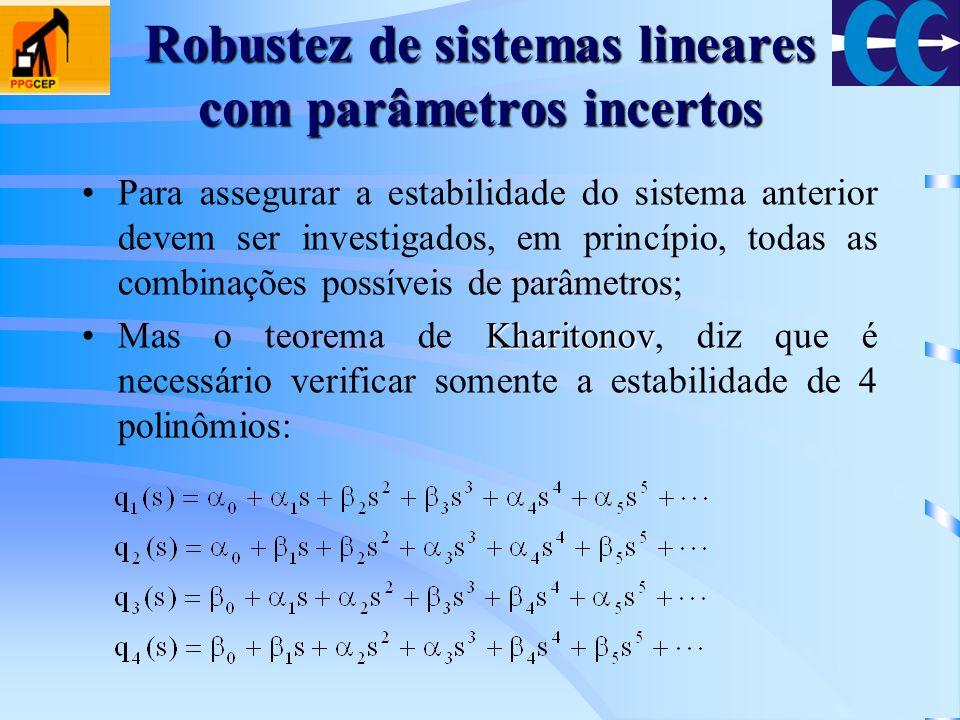 Robustez de sistemas lineares com parâmetros incertos