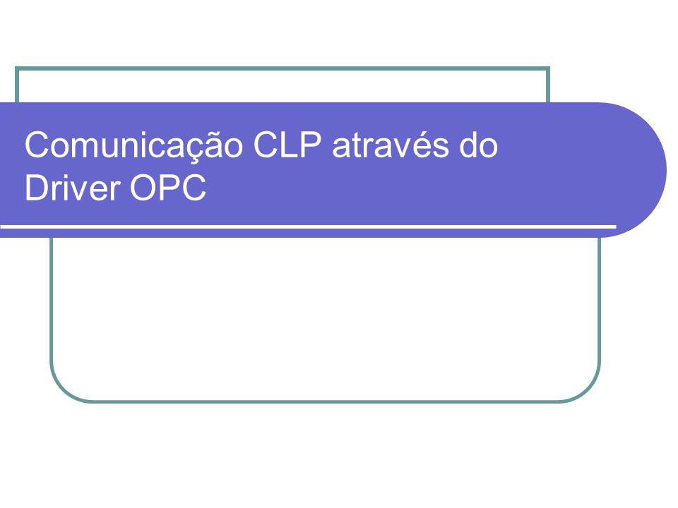 Comunicação CLP através do Driver OPC