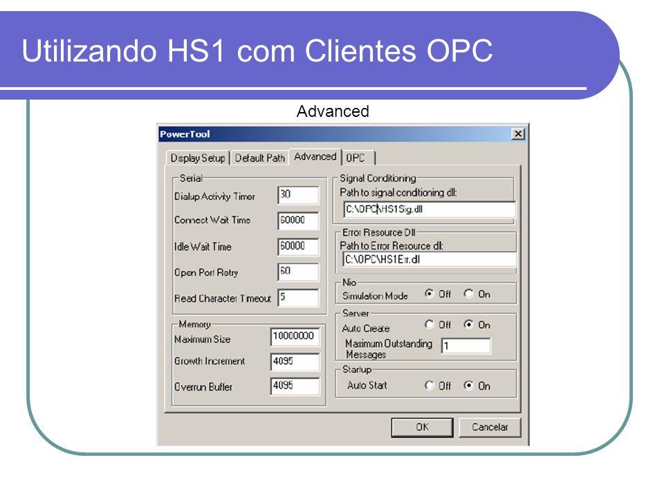 Utilizando HS1 com Clientes OPC