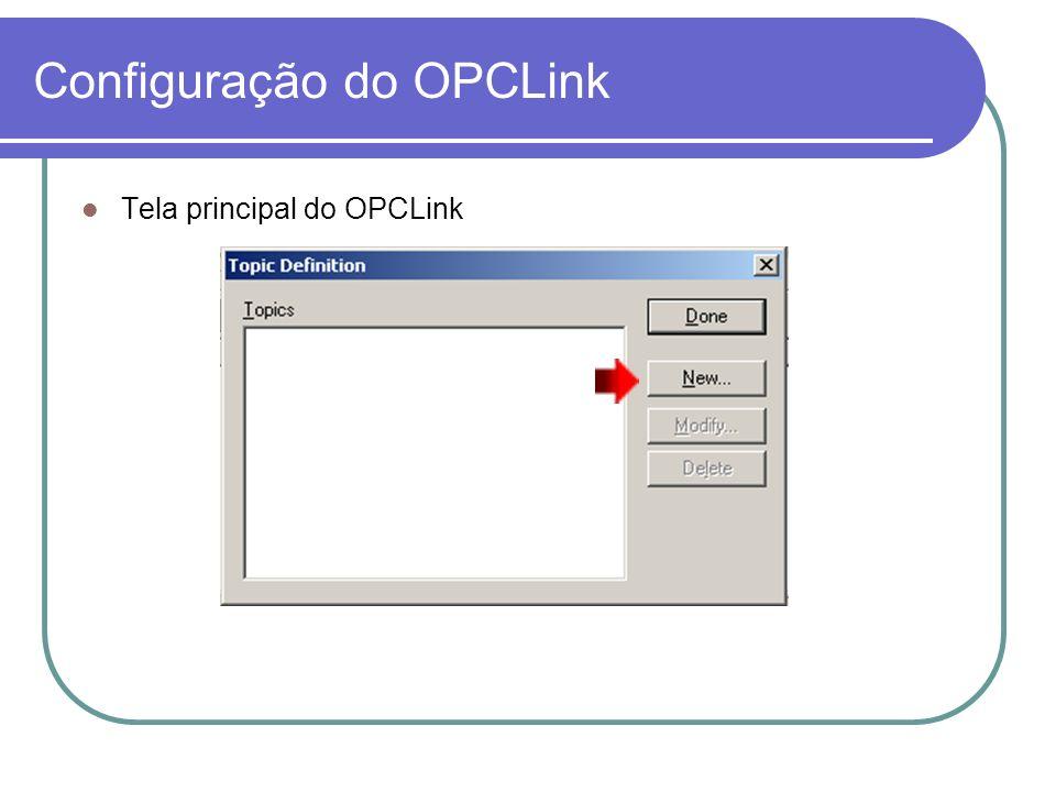 Configuração do OPCLink