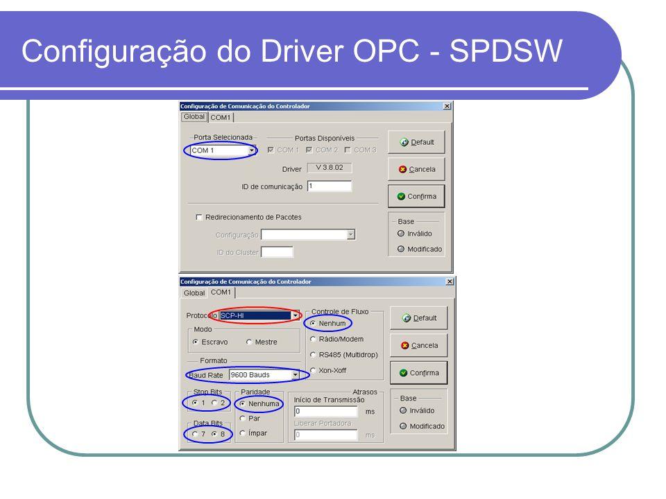 Configuração do Driver OPC - SPDSW