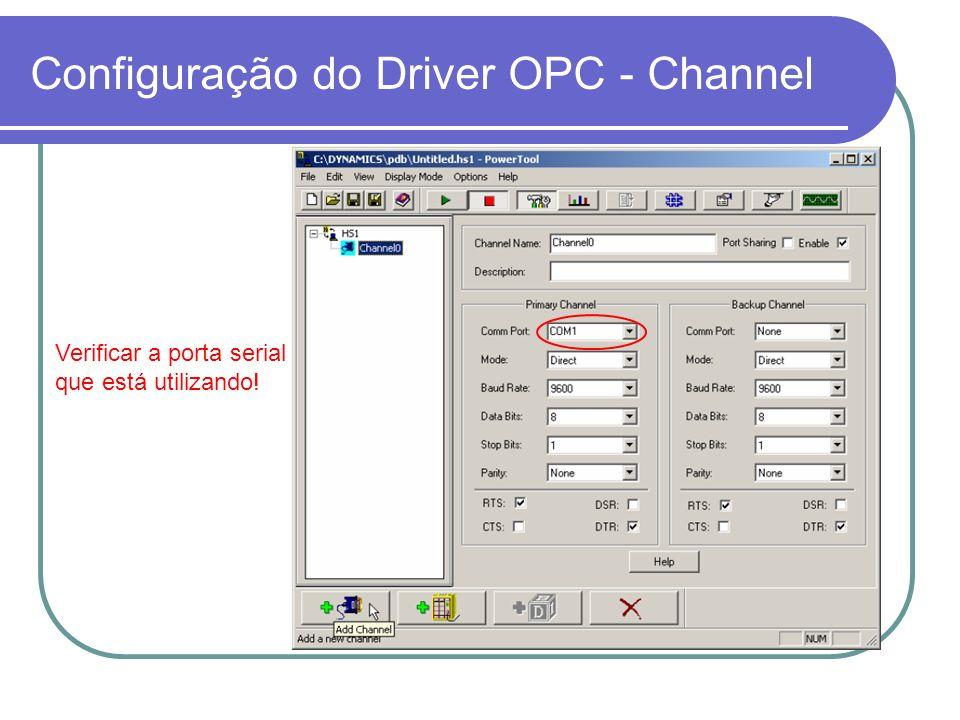 Configuração do Driver OPC - Channel