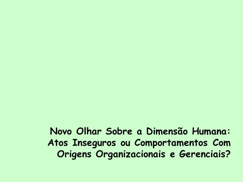Novo Olhar Sobre a Dimensão Humana: Atos Inseguros ou Comportamentos Com Origens Organizacionais e Gerenciais