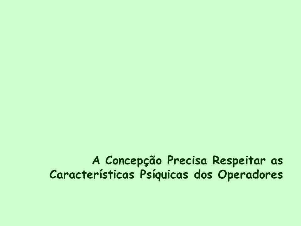 A Concepção Precisa Respeitar as Características Psíquicas dos Operadores