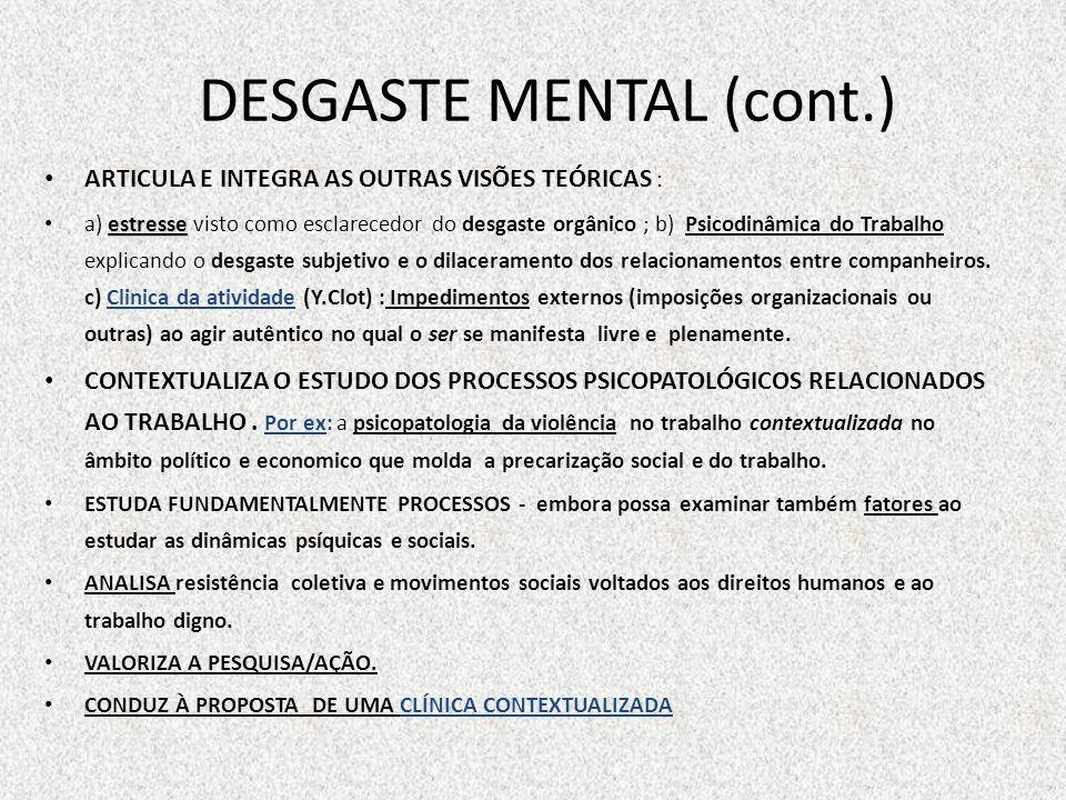 DESGASTE MENTAL (cont.)