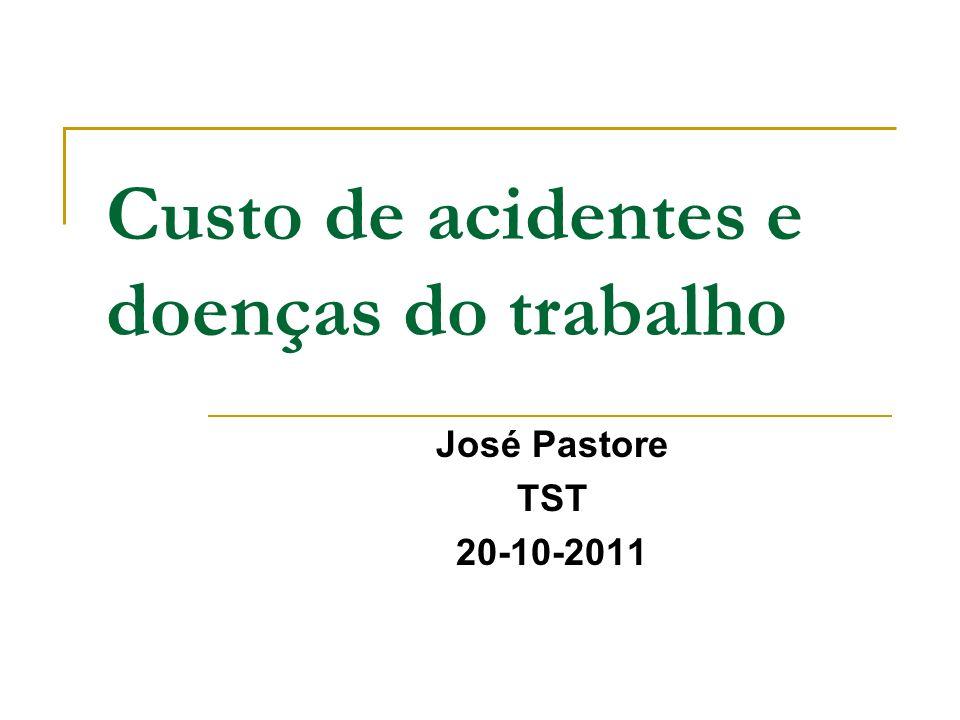 Custo de acidentes e doenças do trabalho