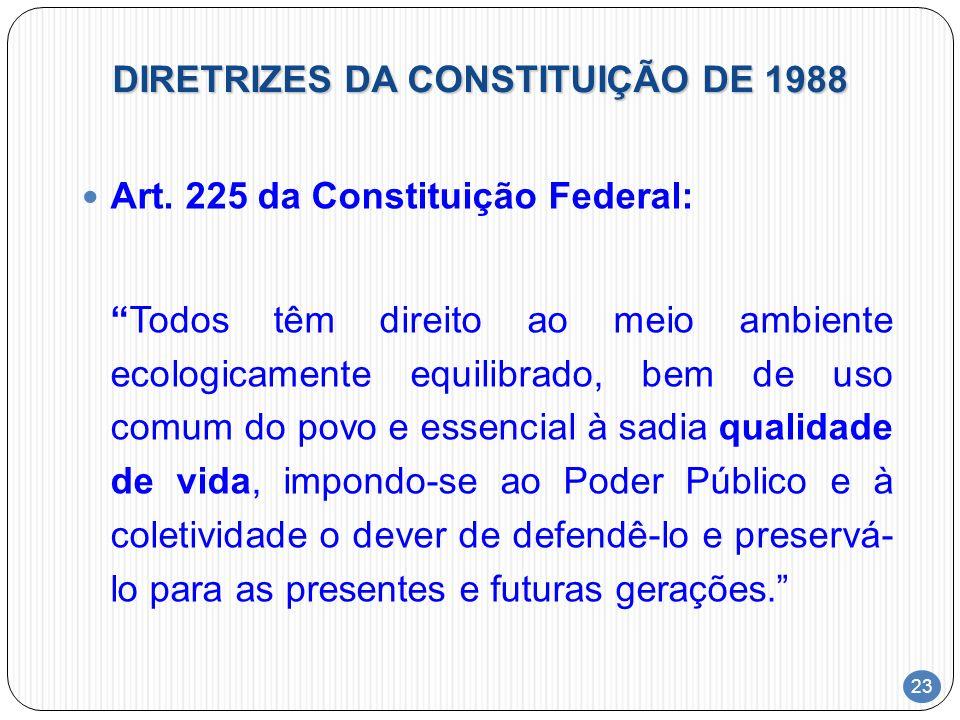 DIRETRIZES DA CONSTITUIÇÃO DE 1988