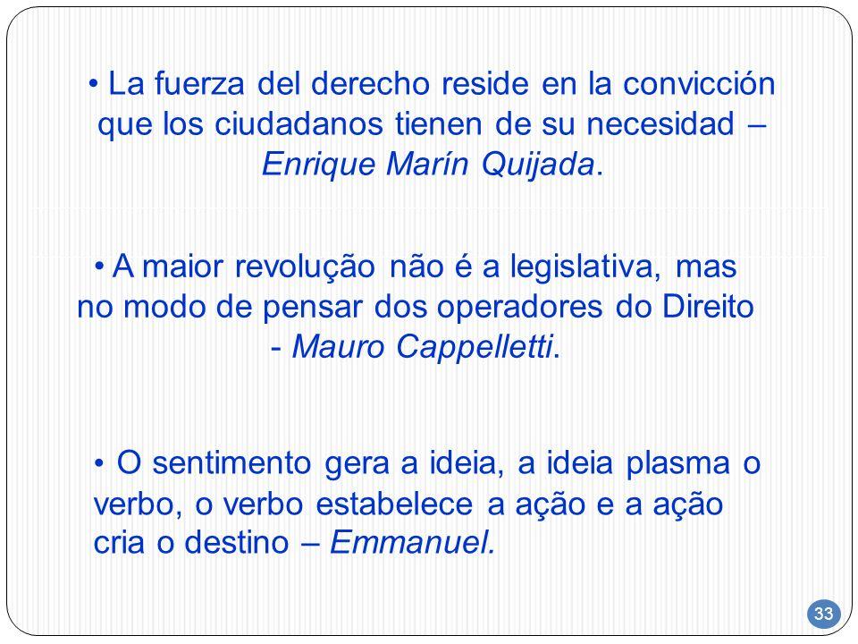 La fuerza del derecho reside en la convicción que los ciudadanos tienen de su necesidad – Enrique Marín Quijada.